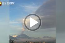 இந்தோனேஷியாவில் மீண்டும்  ஆஹூன் எரிமலை சீற்றம்…