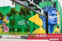 Brazil street art gets World Cup flavour as soccer mania grips