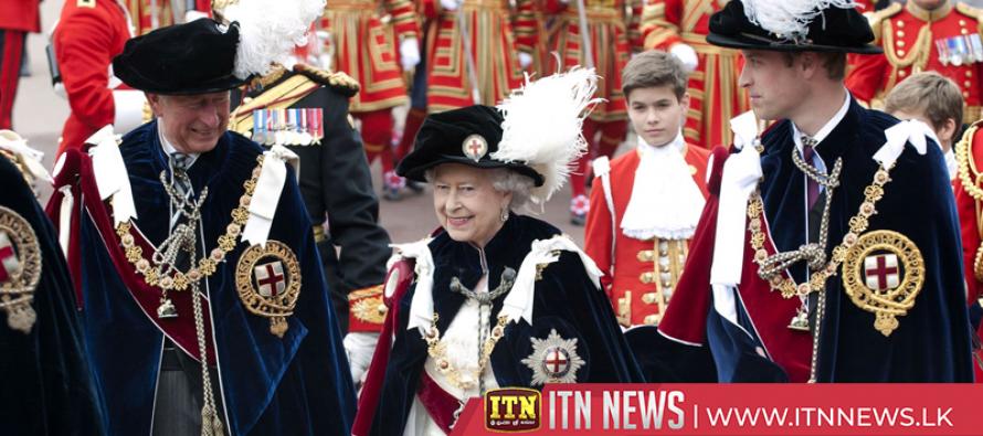 Britain's Queen Elizabeth leads Garter Day ceremony in Windsor