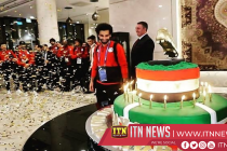 Chechen fans bring smile to Salah's face with 100kg cake