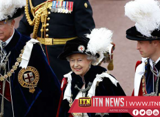 BRITAIN'S QUEEN ELIZABETH LEADS GARTER DAY CEREMONY IN WINDSOR