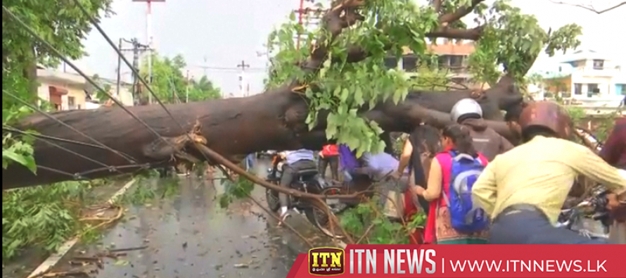 Storm lashes northern Indian hill town