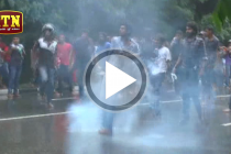 ANTI SAITM PROTESTORS TEARGASSED