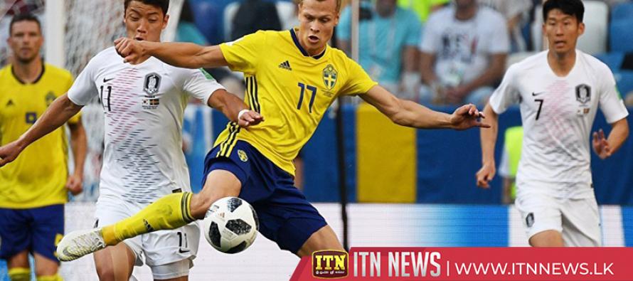 Sweden beat South Korea