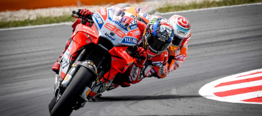 Jorge Lorenzo claims first MotoGP pole for Ducati in Catalan Grand Prix