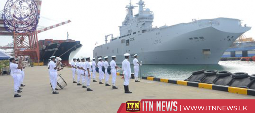 Two French ships arrived on a goodwill visit
