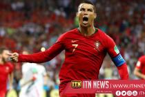 2018 FIFA : ක්රිස්ටියානෝ රොනාල්ඩෝ ගෝල 3කින් තරඟය සම කරයි