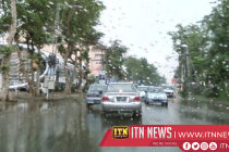 Traffic congestion in Colombo due to heavy rainfall