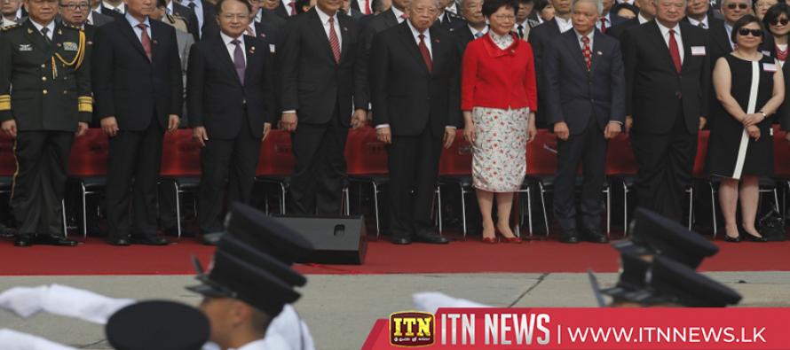 Hong Kong marks 21th anniversary of handover to China with flag raising