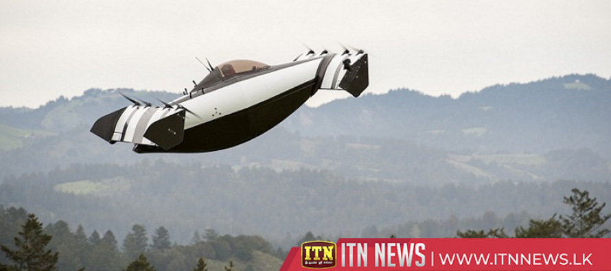Electric flying vehicle BlackFly ready for take-off