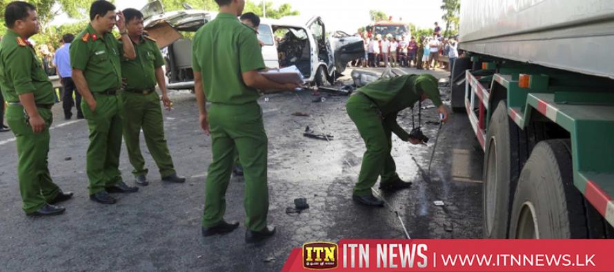 Vietnam minibus crash kills groom and 12 wedding guests