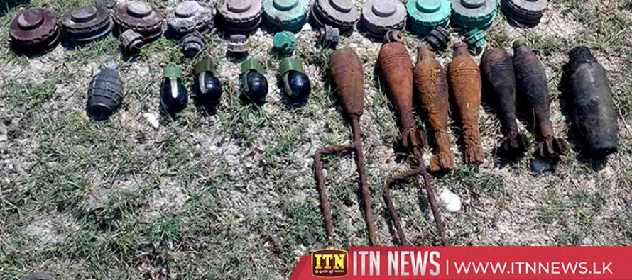 Bombs found in a well in Mulativu