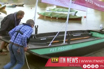 Recycled plastic boat tackles river Thames waste