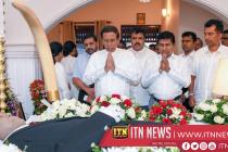 The President pays his last respects to Asanka Dodanwala