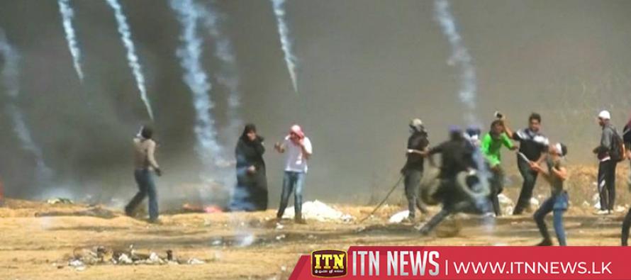 எதிர்ப்பு ஆர்ப்பாட்டங்களில் ஈடுபட்டிருந்த பலஸ்தீனியர்கள் மீது இஸ்ரேல் தாக்குதல்