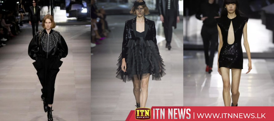 Designer Hedi Slimane goes rock chic for first Celine show