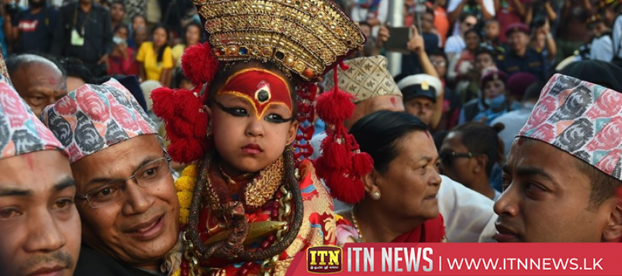 """Nepal's newest """"living goddess"""" makes first public appearance"""