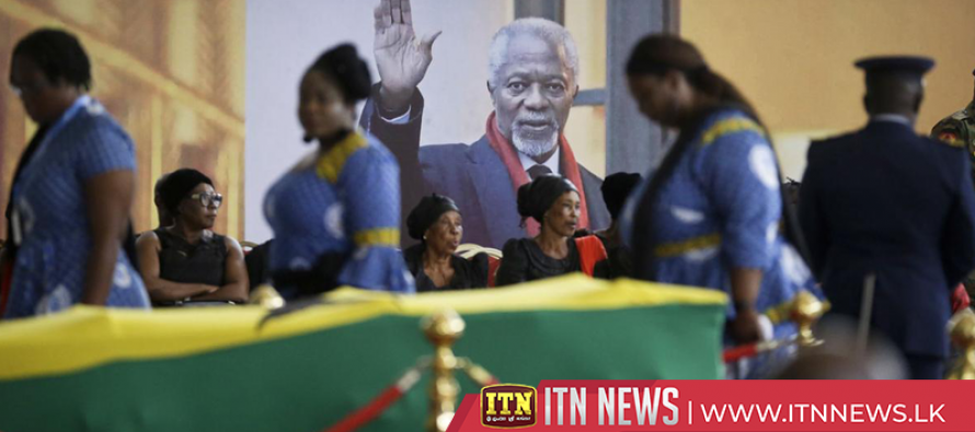 Ghanaians pay final tribute to Annan lying in state in Accra