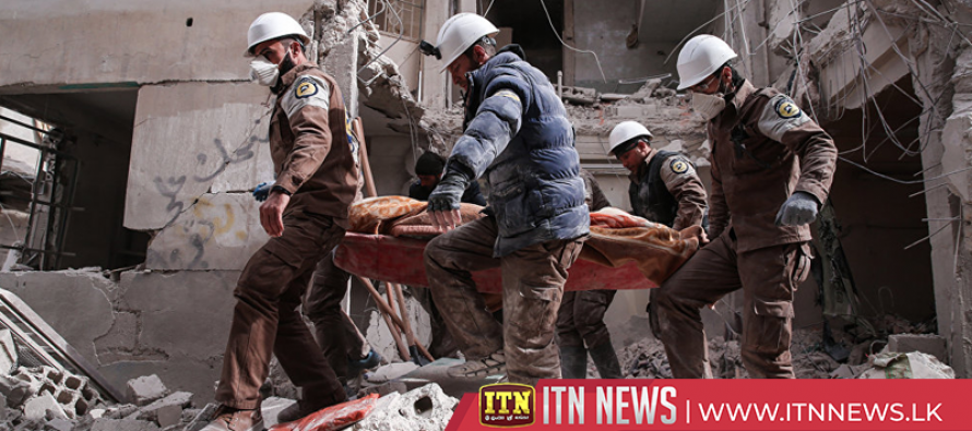 White Helmets search for survivors in Idlib following air strikes