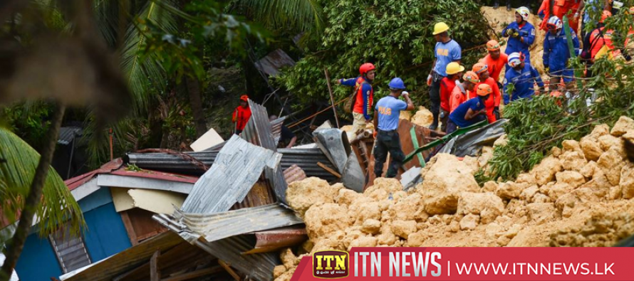 Landslide buries village, killing at least three people in Cebu, Philippines