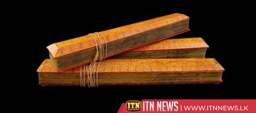 Thripitaka is to be declared a national heritage