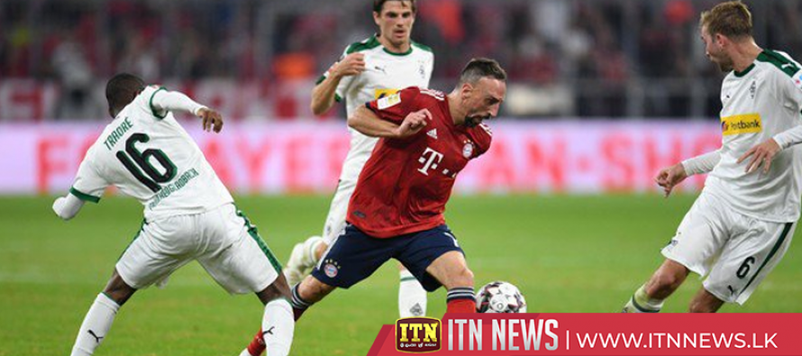 Bayern thumped 3-0 at home to Moenchengladbach