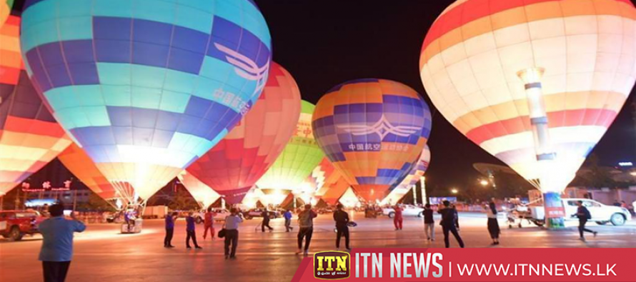 Central China city highlights hot air balloon for tourism festival