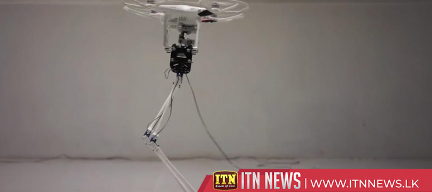 Quadcopter for a head helps robot walk tall