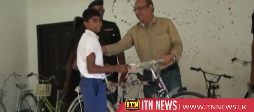 Cycles given to children of low income families in Vavuniya