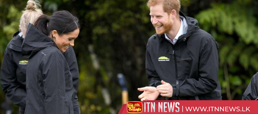 Meghan beats Prince Harry to win 'gumboot' throwing contest in New Zealand