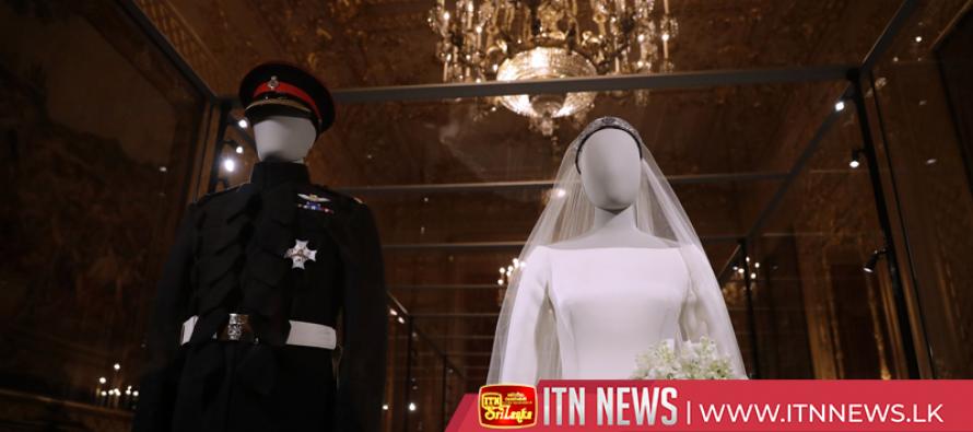 Meghan wedding dress goes on display at Windsor Castle