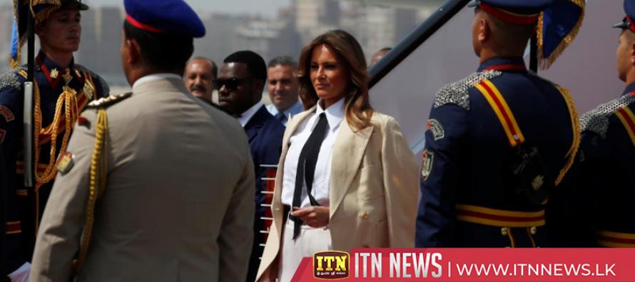 Melania Trump visits the Pyramids as she wraps up solo Africa tour