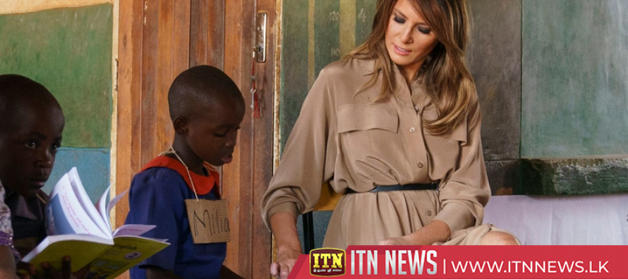 Melania Trump meets with school children in Malawi