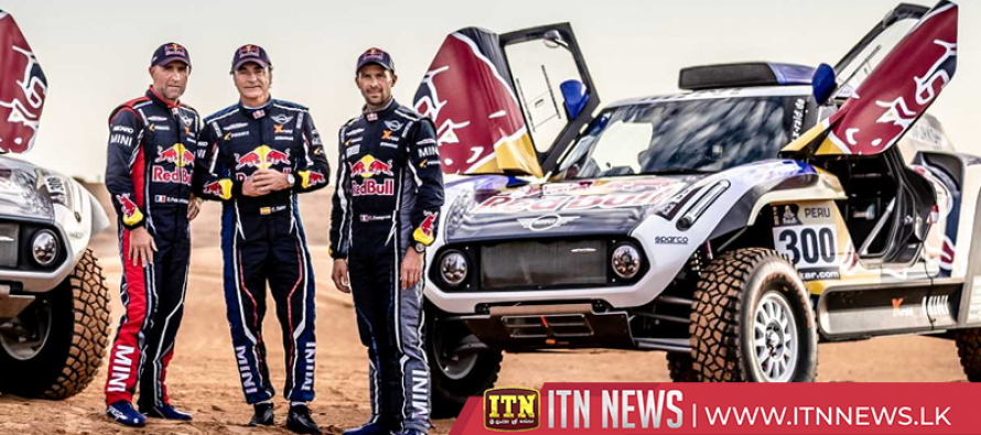 Three Dakar Rally legends test drive Mini buggy cars