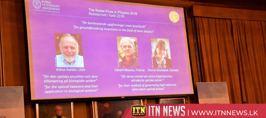 Laser scientists win Nobel physics prize for tools made of light