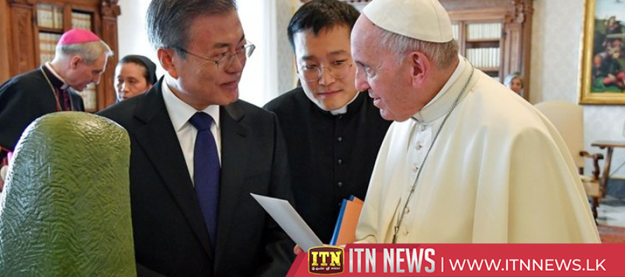 S.Korea's Moon delivers invitation from N.Korea for pope to visit