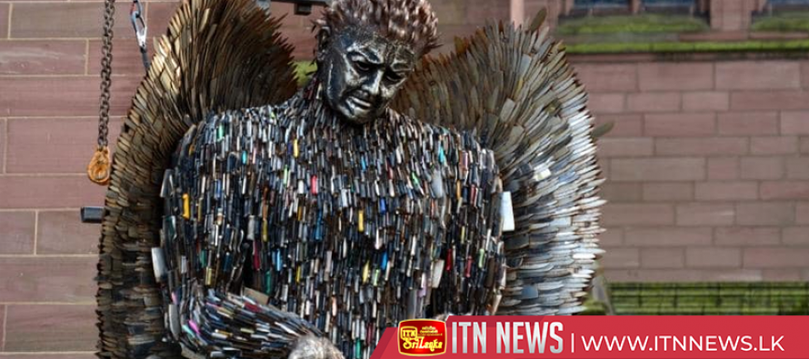 Sculpture made with 100,000 confiscated blades highlights UK knife crime