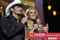 Brad Paisley, Carrie Underwood and Keith Urban perform at Country Music awards