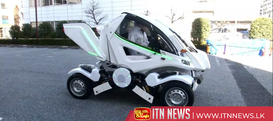 Wheel-folding electric vehicle could help with parking squeeze
