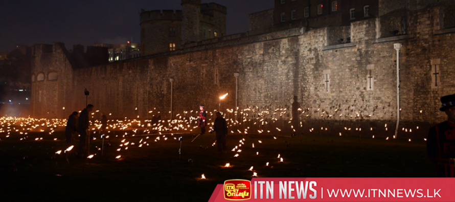 Tower of London's lighting installation marks WW1 centenary