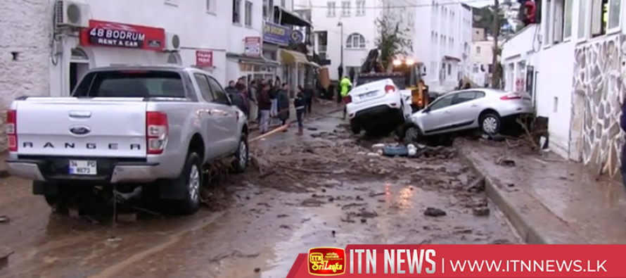 Dozens stranded as flash floods hit Turkish tourist hub of Bodrum