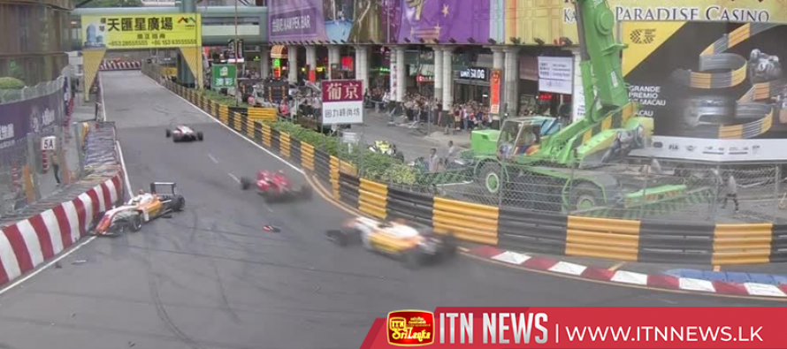 Footage shows moment of German F3 driver's spectacular crash