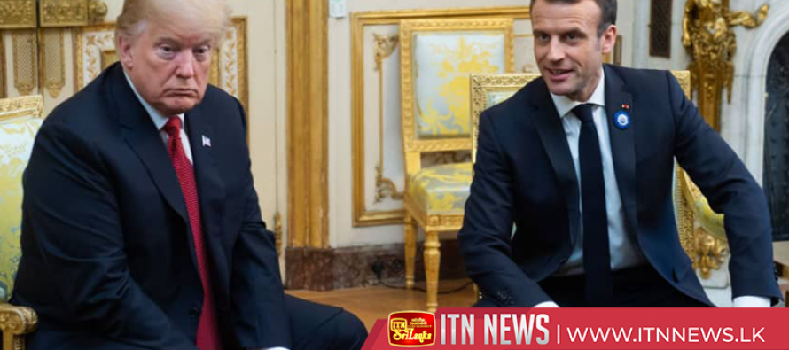 Macron gets hands on with Trump after European army spat