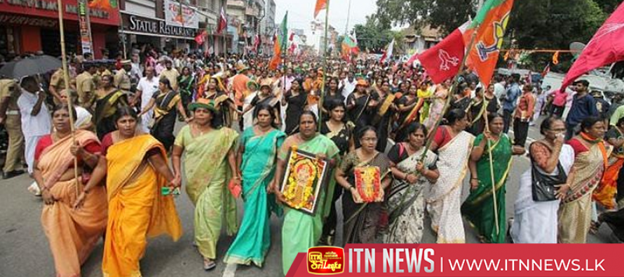 Protests in India over women's entry to temple ahead of its reopening