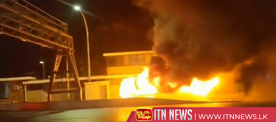 Bus erupts in flames on Sydney Harbour Bridge