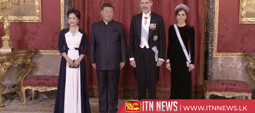 Chinese president honored at welcome banquet hosted by Spanish king