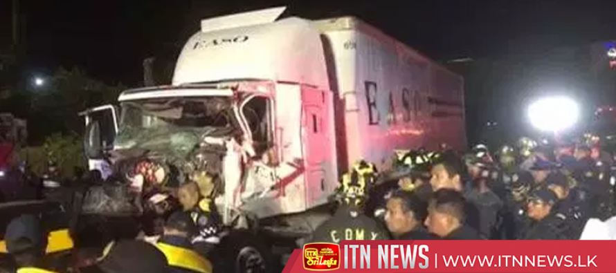 At least nine dead and 40 injured after truck crashes into vehicles in Mexico City