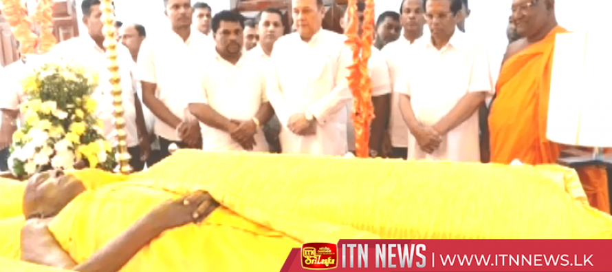 President pays last respects to Chief Monk