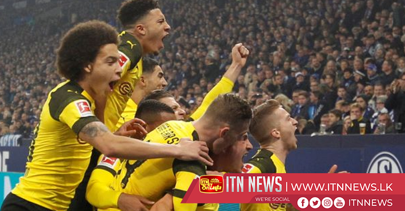 Sancho goal earns Dortmund 2-1 win at Schalke in Ruhr derby