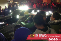 Police confront hundreds of illegal street racers in LA